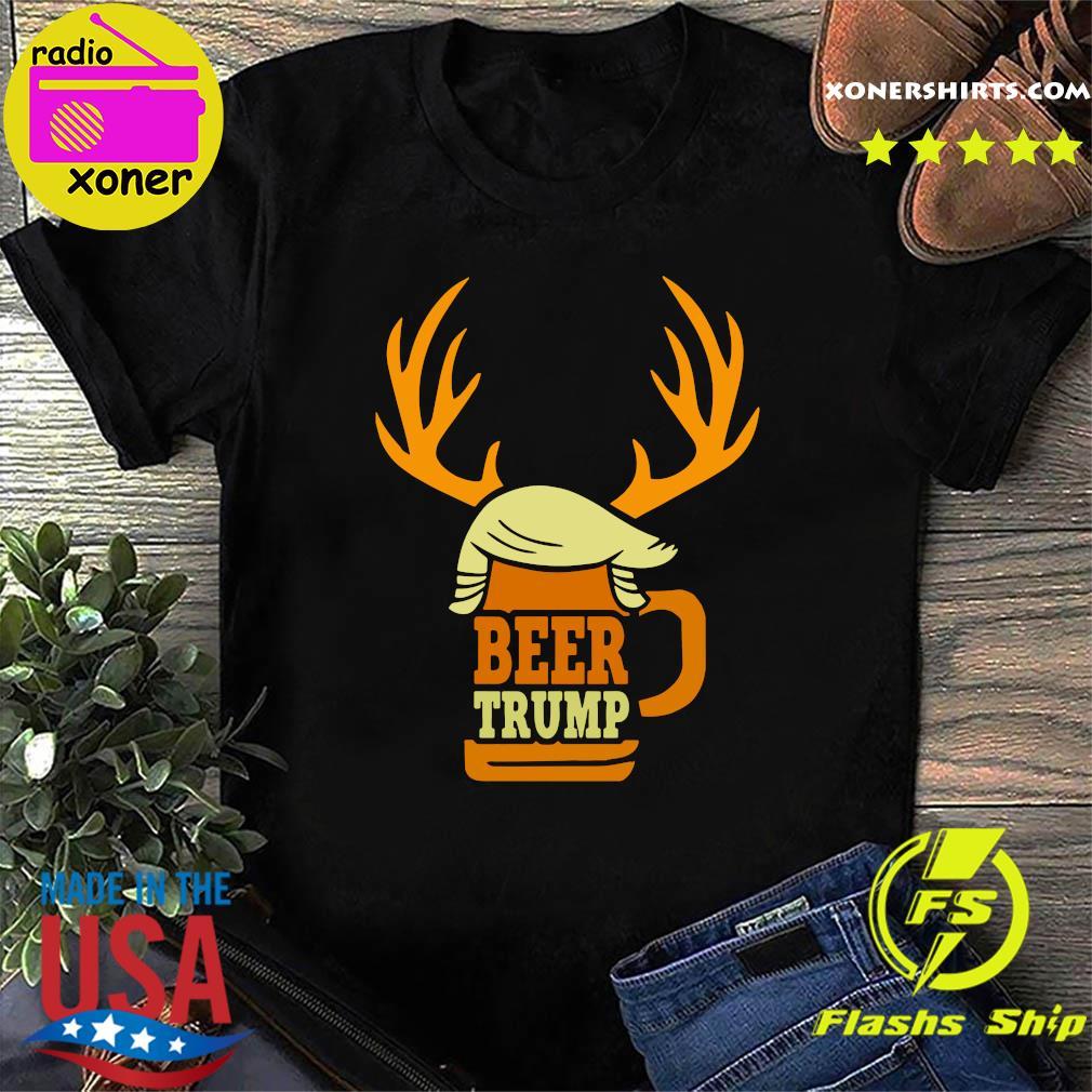 Beer Trump Reindeer Christmas Shirt
