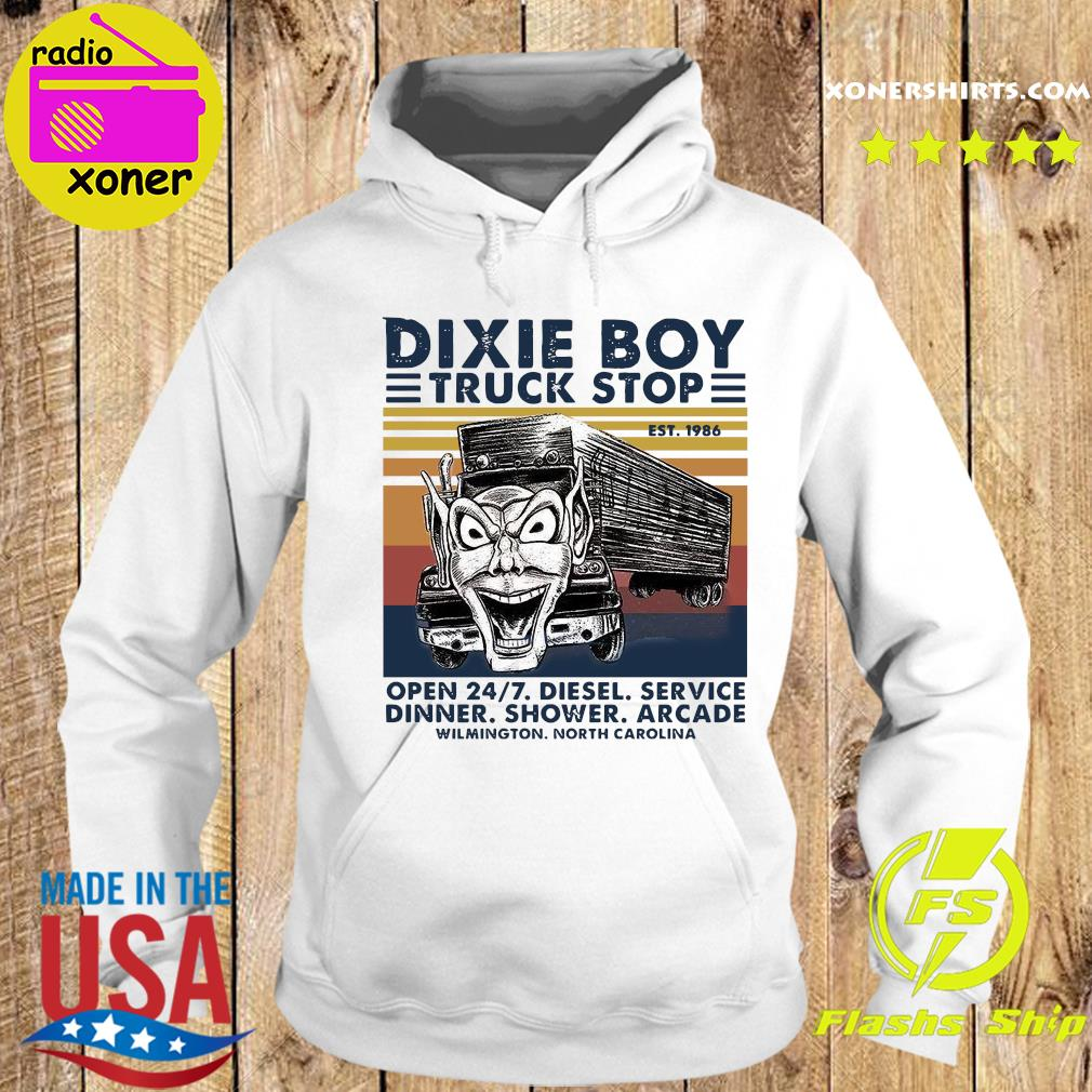 Dixie Boy Truck Stop Open 24 7 Diesel Service Vintage Shirt Hoodie