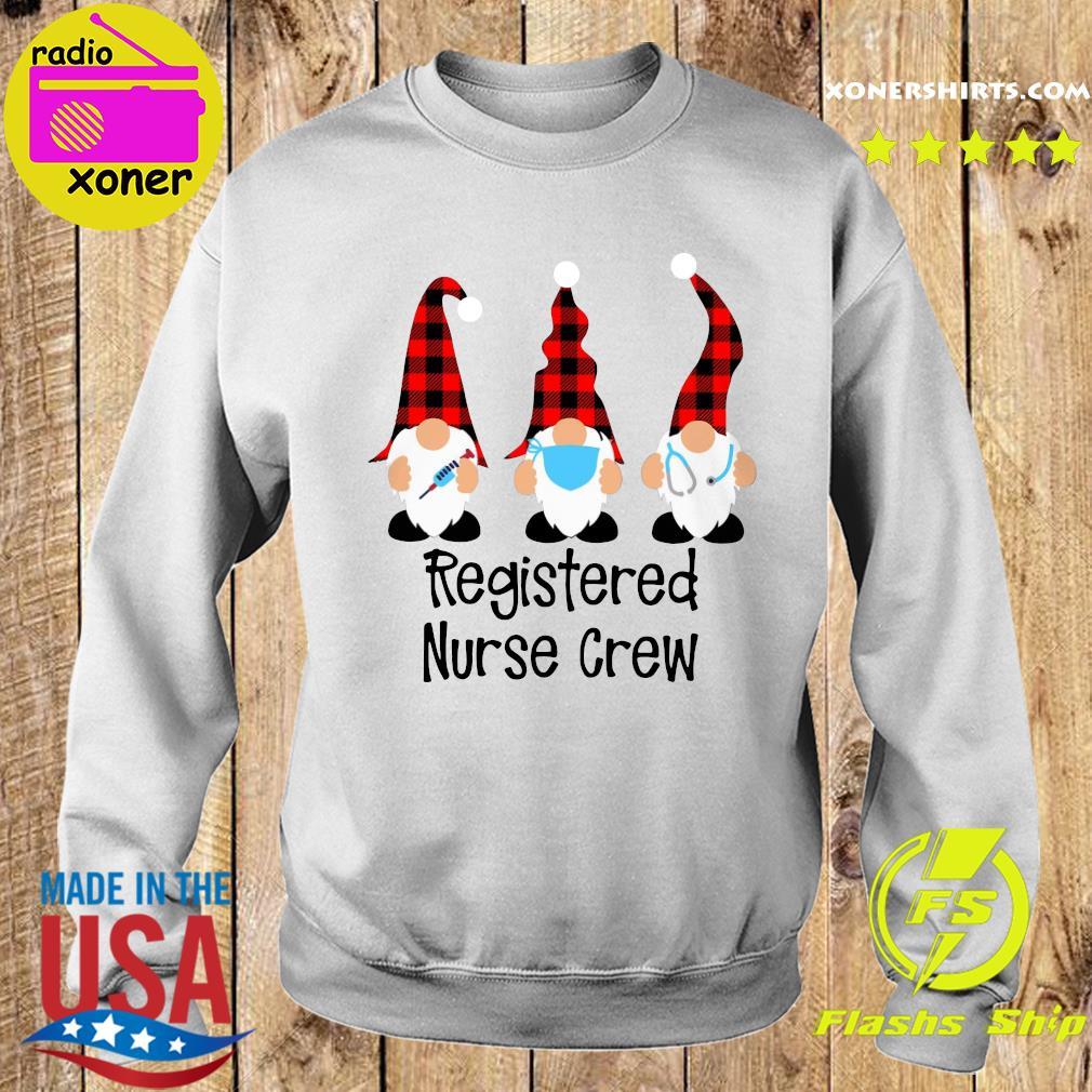 Gnome Nurse Registered Nurse Crew Merry Christmas Sweatshirt