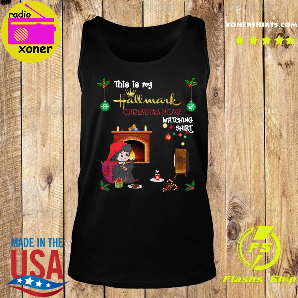 Harry Potter This Is My Hallmark Christmas Movie Watching Shirt Tank top