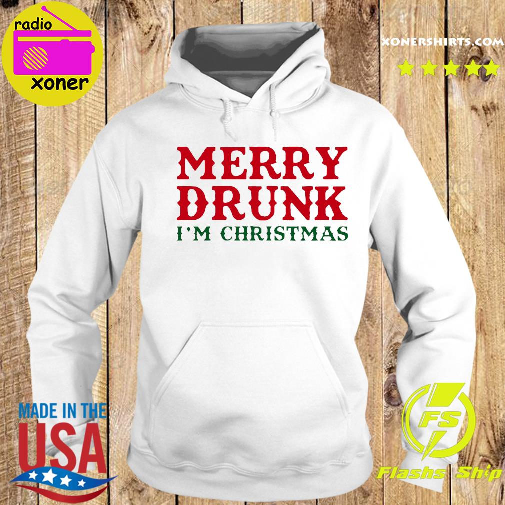 Merry Drunk I'm Christmas Colorblock Sweats Hoodie