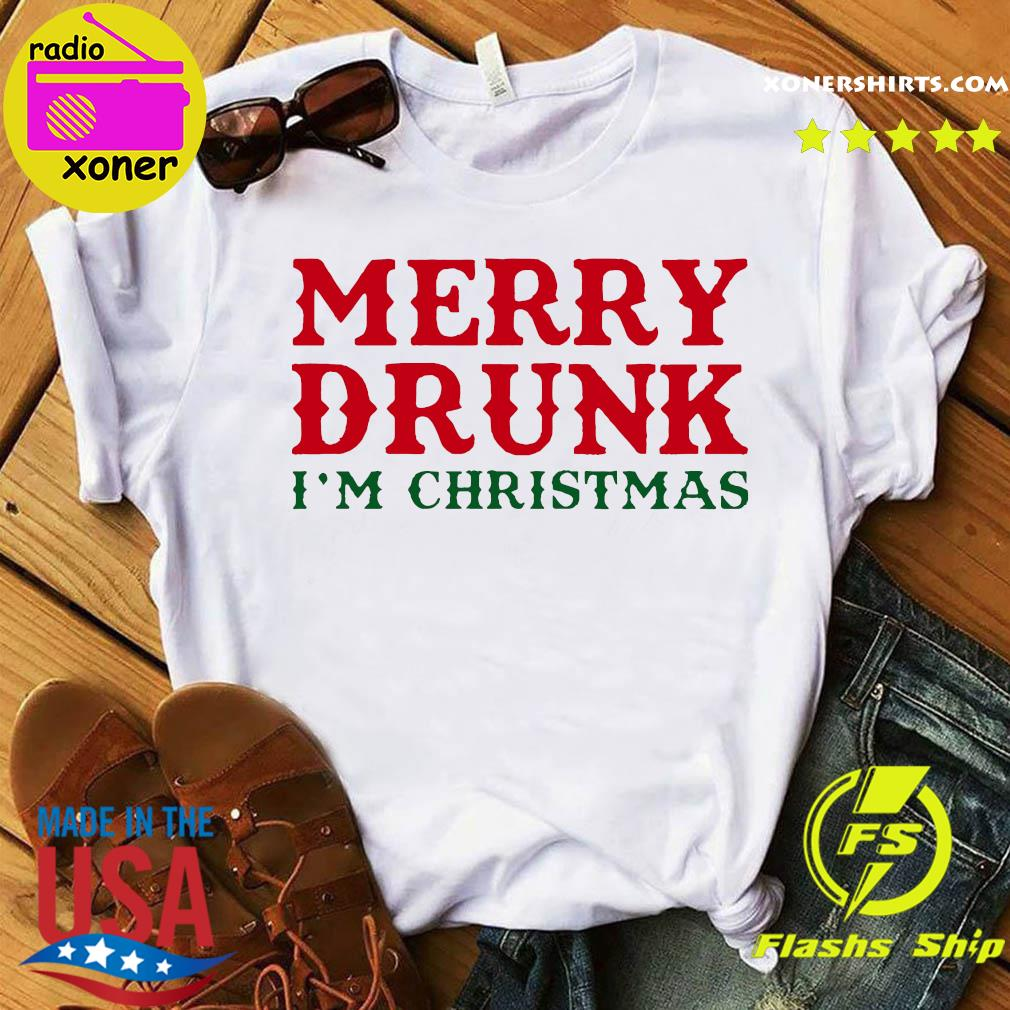 Merry Drunk I'm Christmas Colorblock Sweats Shirt