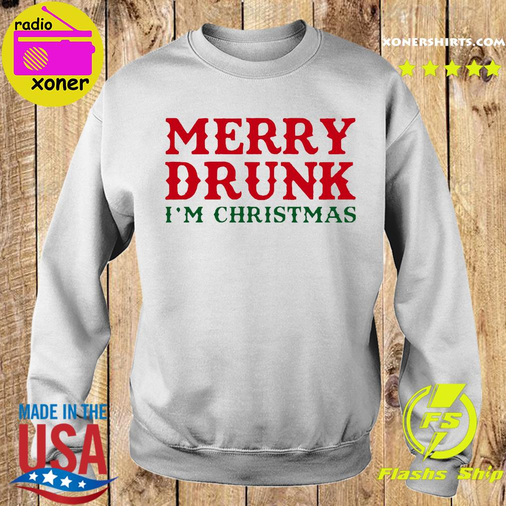Merry Drunk I'm Christmas Colorblock Sweatshirt