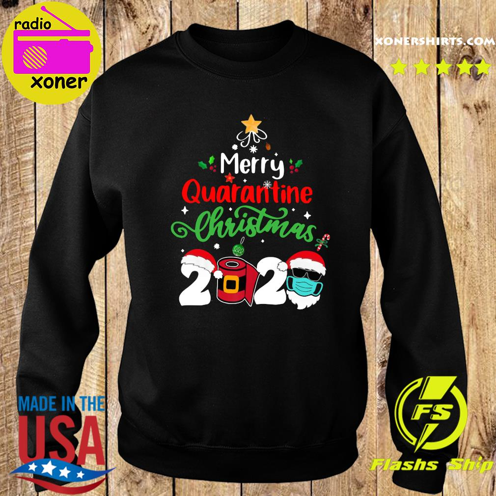 Merry Quarantine Christmas 2020 Toilet Paper Satan Claus Sweatshirt