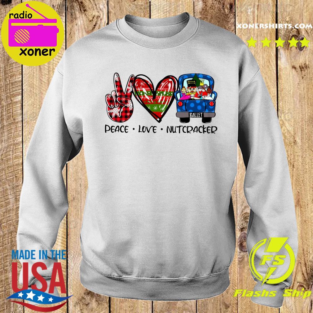Peace Love Nutcracker Merry Christmas Sweatshirt