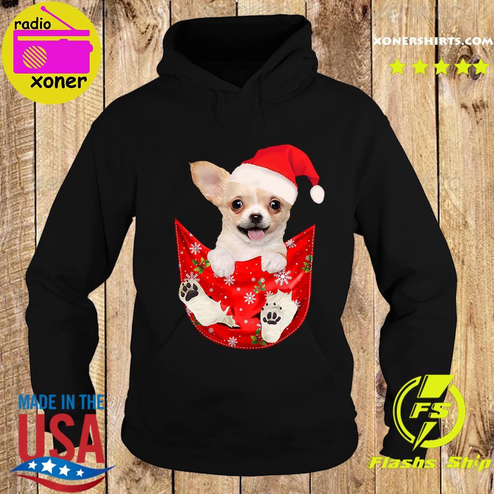 Santa Chihuahua Dog Merry Christmas Sweats Hoodie