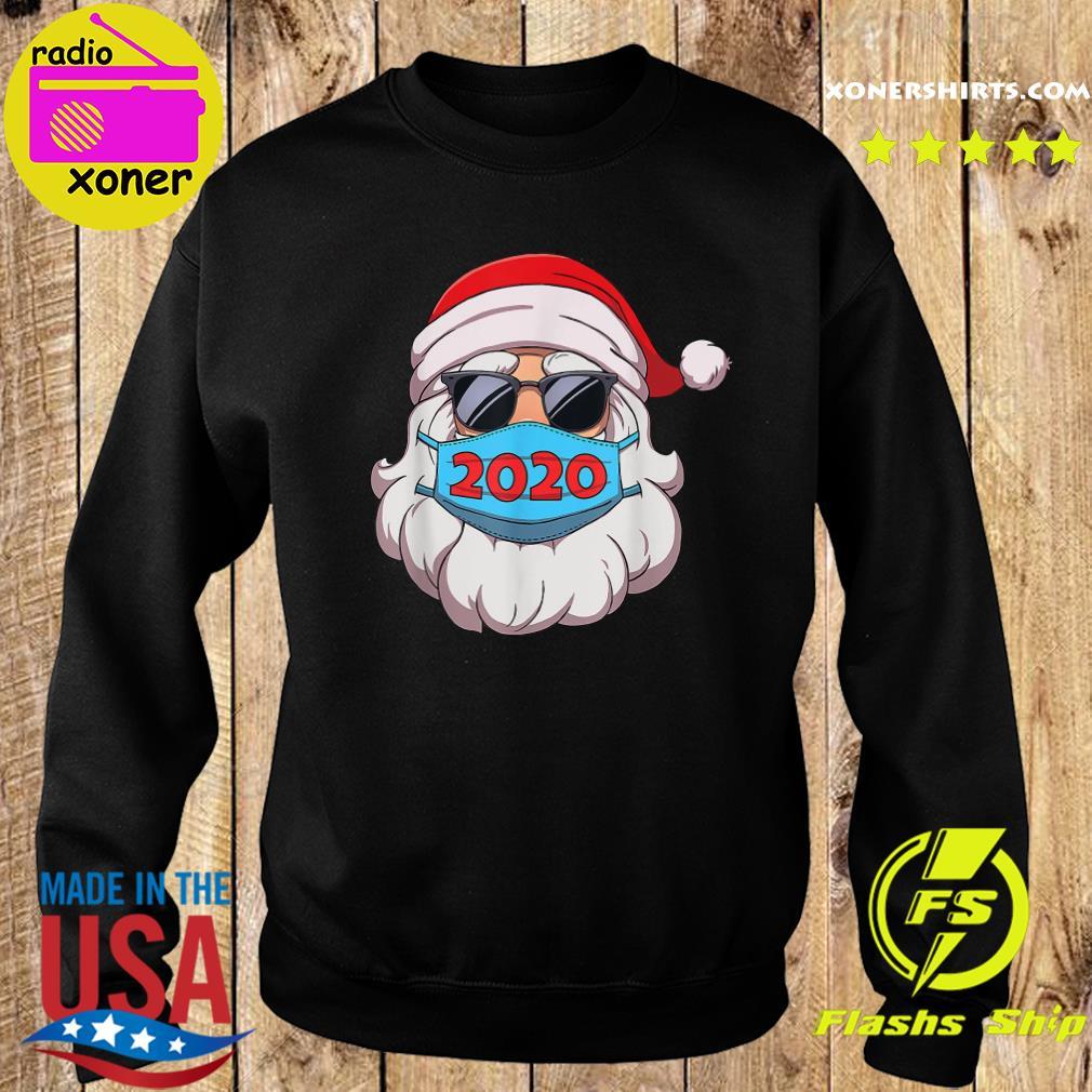 Santa Claus Face Mask Glasses 2020 Sweatshirt