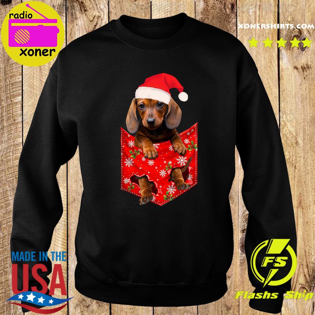 Santa Daschund Merry Christmas Sweatshirt