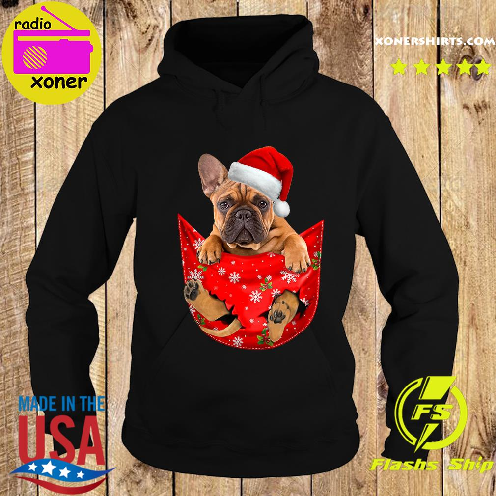 Santa French Bulldog Merry Christmas Sweats Hoodie