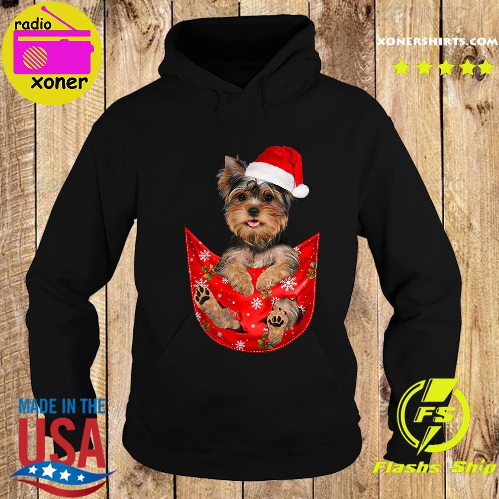 Santa Yorkshire Terrier Merry Christmas Sweats Hoodie