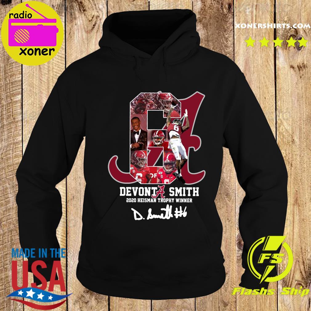 6 Devonta Smith 2020 Heisman Trophy Winner Alabama Crimson Tide Signature Shirt Hoodie
