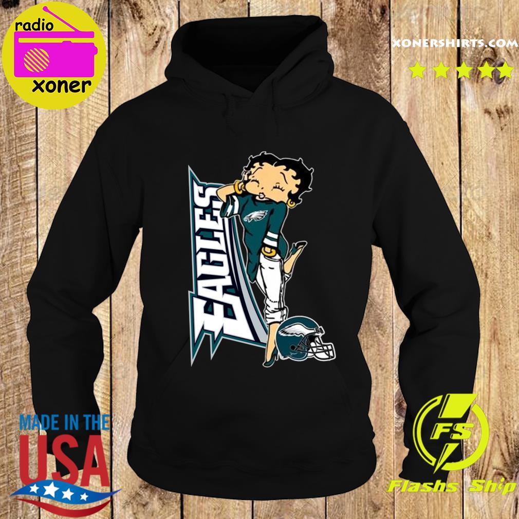 Betty Boop Philadelphia Eagles Football Shirt Hoodie