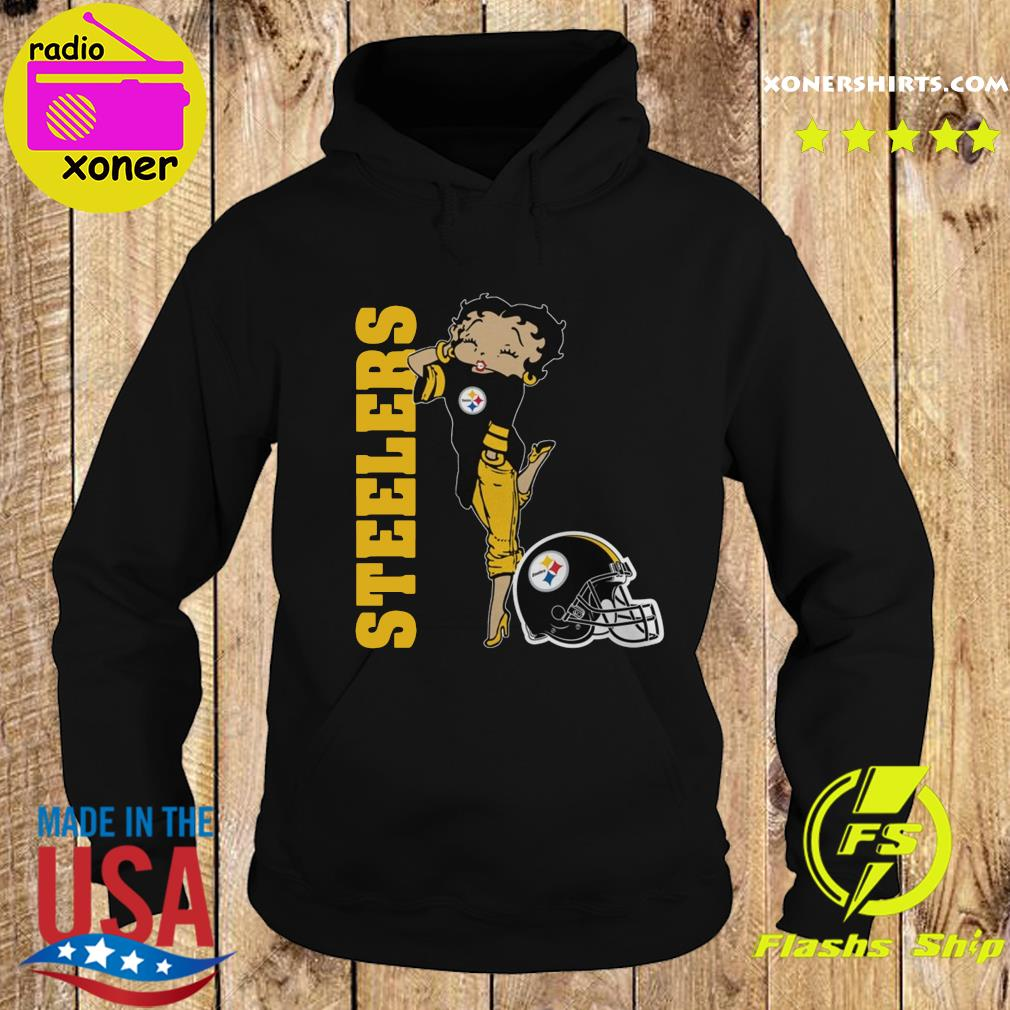 Betty Boop Pittsburgh Steelers Football Shirt Hoodie