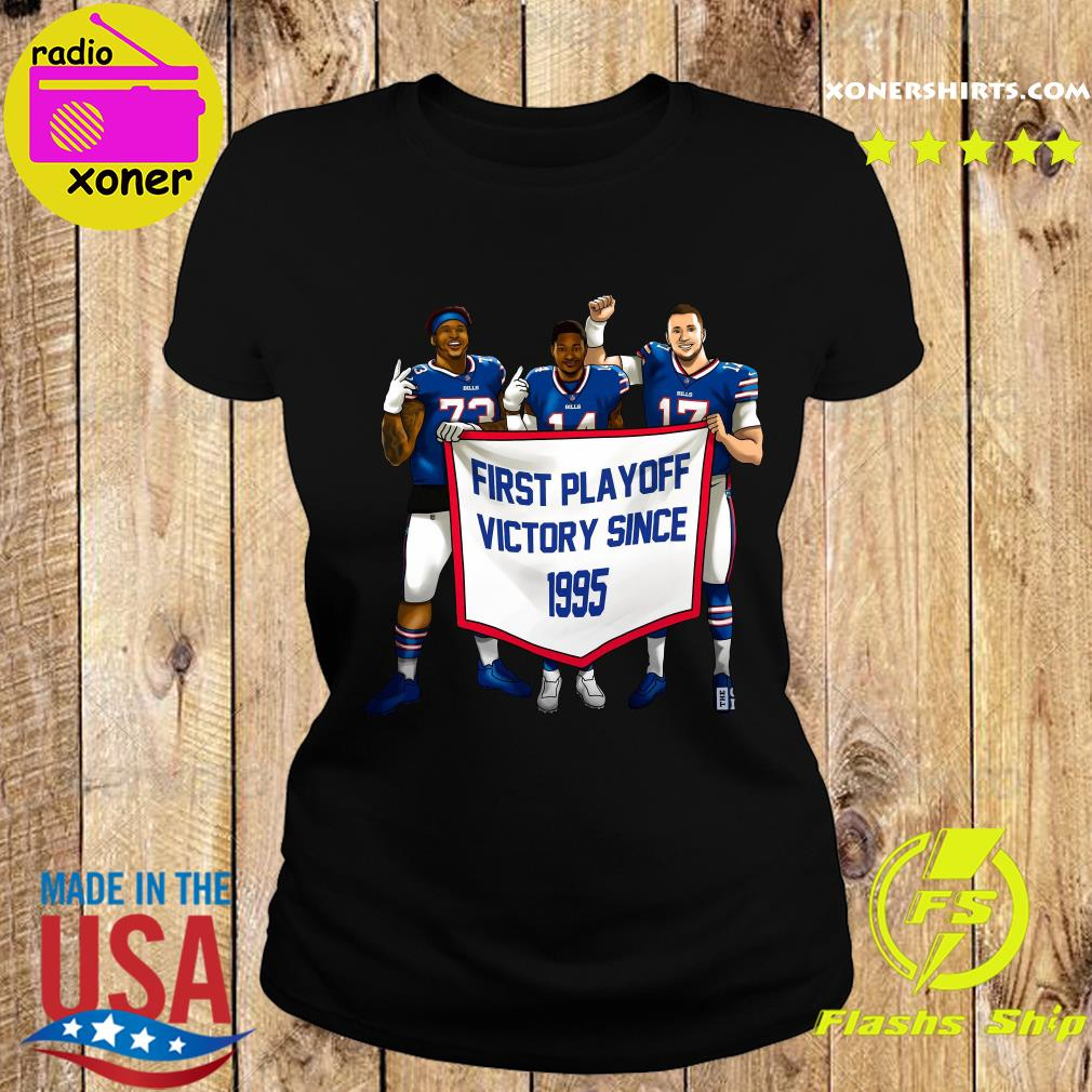 Buffalo Bills First Playoff Victory Since 1995 Shirt Ladies tee