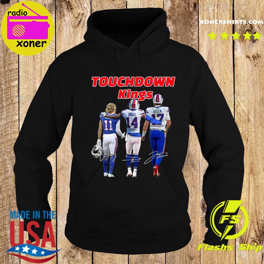 Buffalo Bills Touchdown Kings Cole Beasley 11 Stefon Diggs 14 Josh Allen 17 Signatures T-Shirt Hoodie