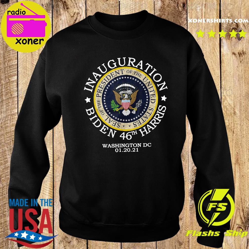 Inauguration Biden 46th Harris Washington Dc 01 20 2021 Seal Of President Shirt Sweater