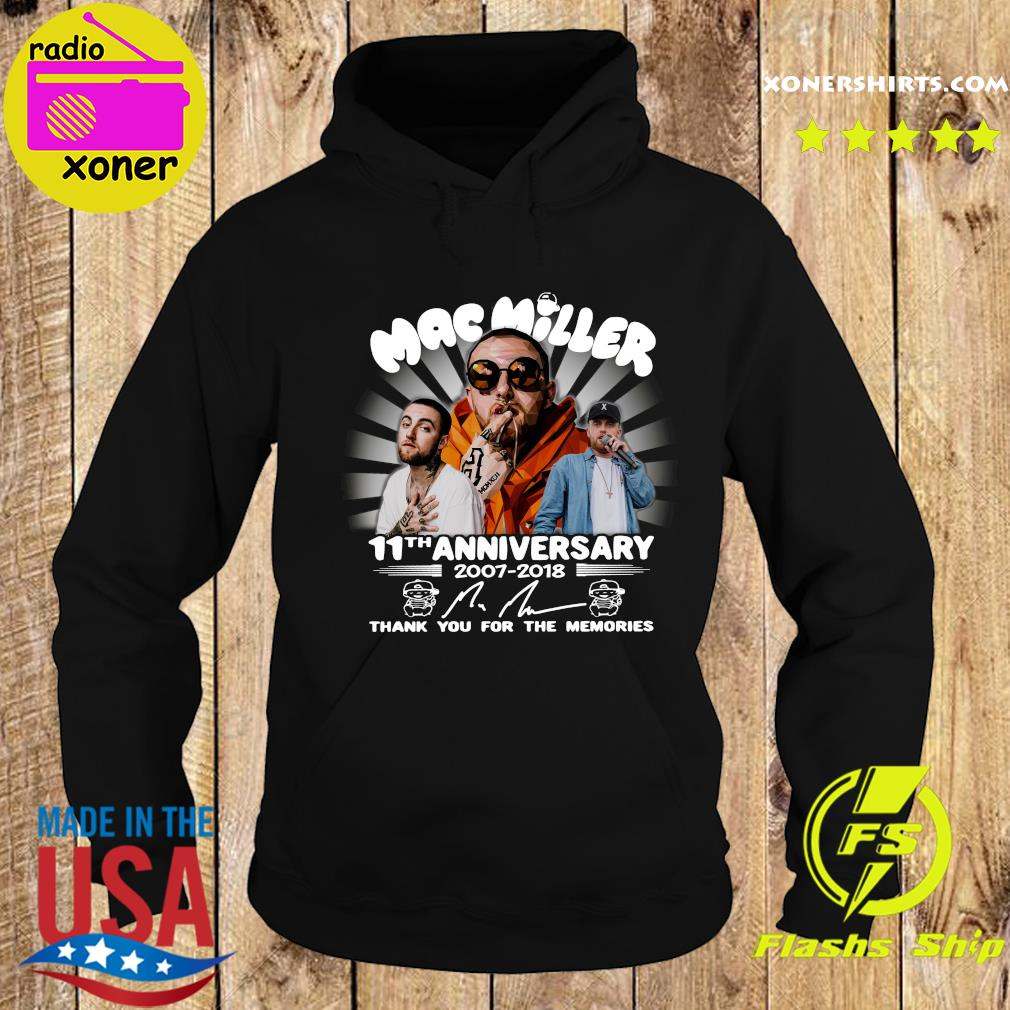 Mac Miller 11th Anniversary 2007 2018 Thank You For The Memories Signature Shirt Hoodie