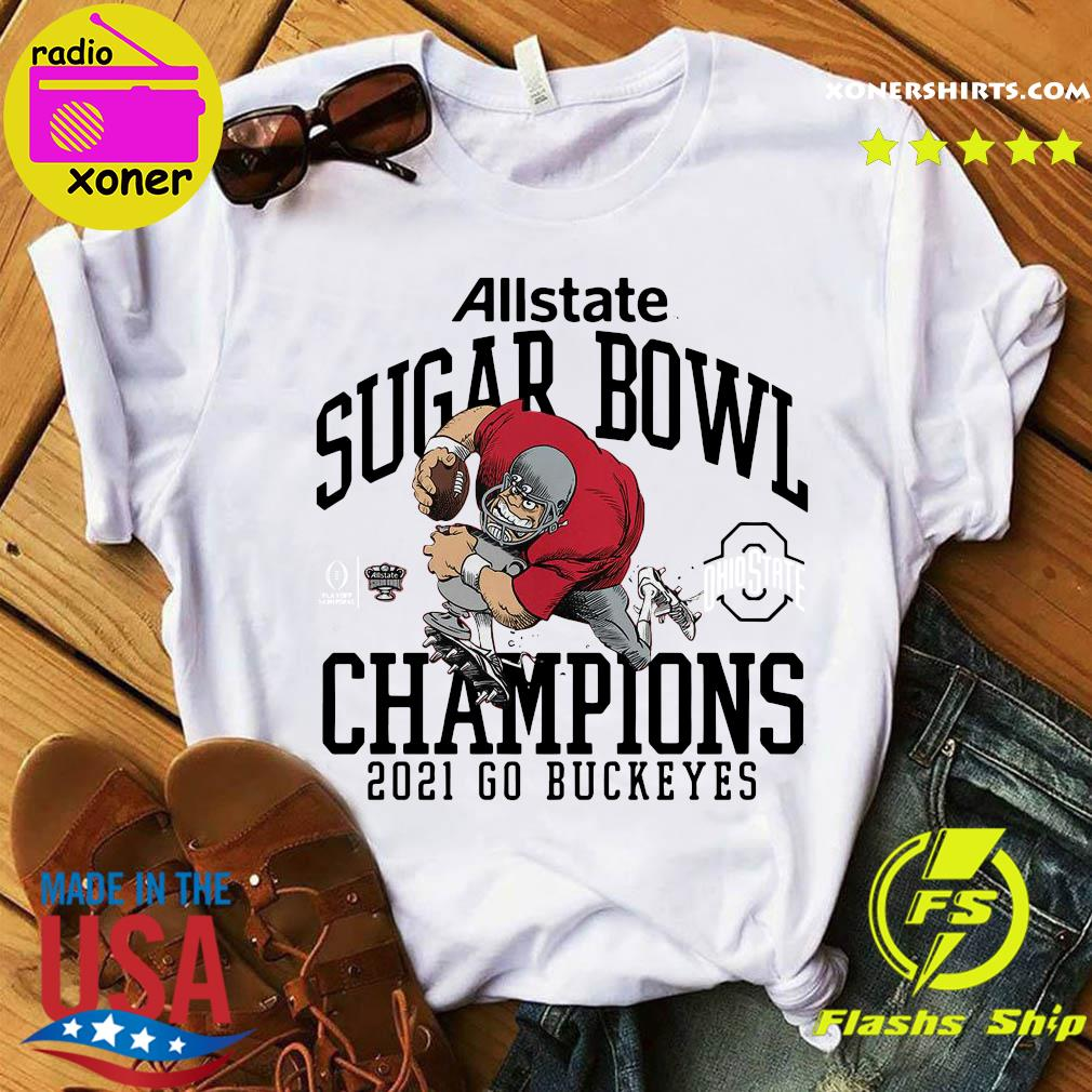Official Ohio State Buckeyes Allstate Sugar Bowl Champions 2021 Go Buckeyes Shirt